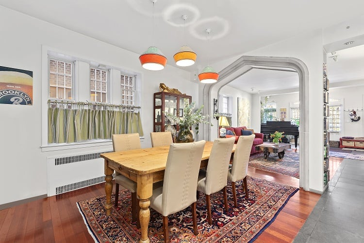 dining room of a pre-war townhouse in park slope, Brooklyn