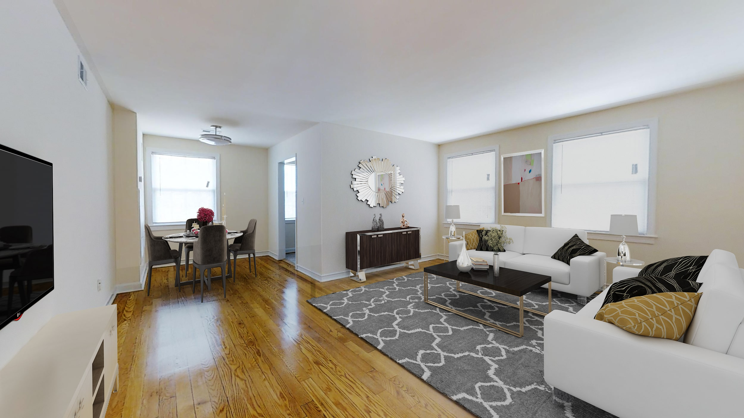 Crescent-Park-Apartments-1-Bedroom-for-Rent-DC-Livingroom-Diningroom-min